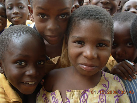 Hopeful children in Ghanan village