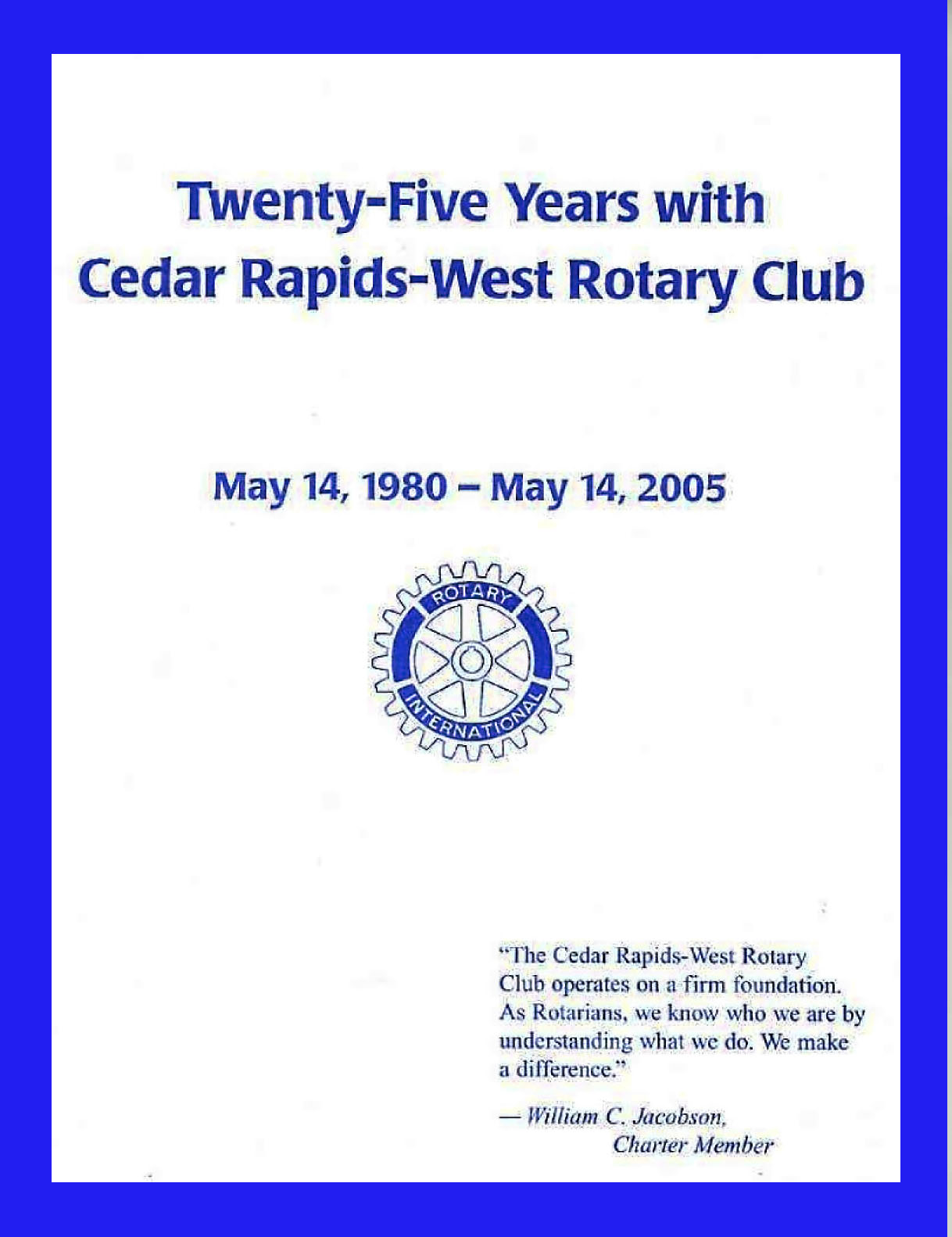 Cedar Rapids West Rotary - Our History